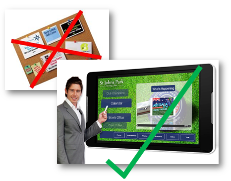 notice board Touch Screen noticeboard (for home page)